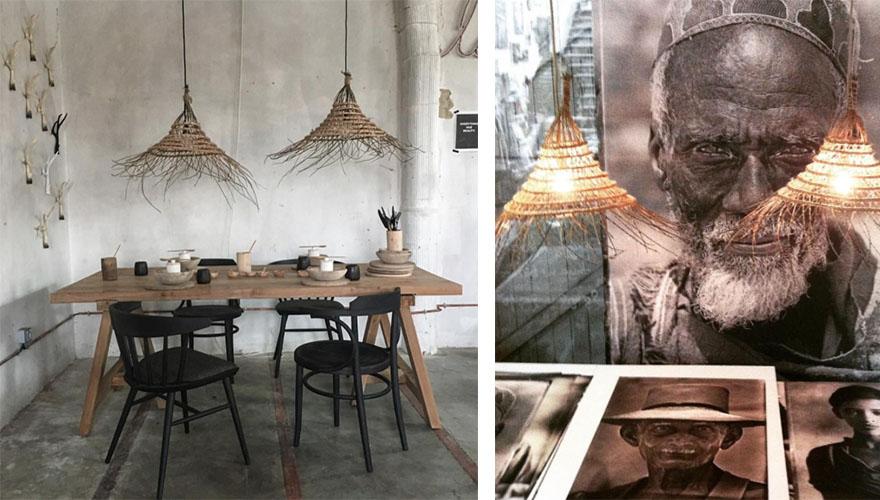 lampe tressee osier rotin bambou 6