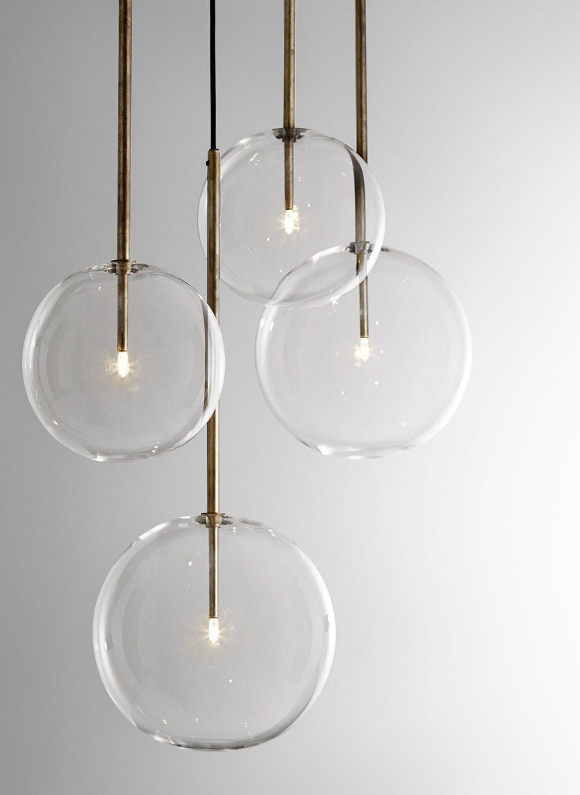 luminaire design verre et laiton 3