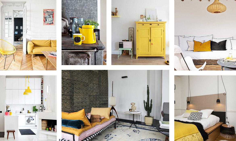 18 idées pour mettre du jaune dans votre déco  Une hirondelle