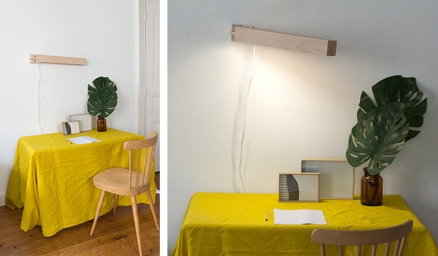 Diy une lampe articul e murale une hirondelle dans les - Lampe articulee murale ...