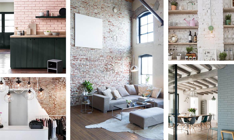mur de briques 18 id es pour s 39 inspirer une hirondelle dans les tiroirs. Black Bedroom Furniture Sets. Home Design Ideas