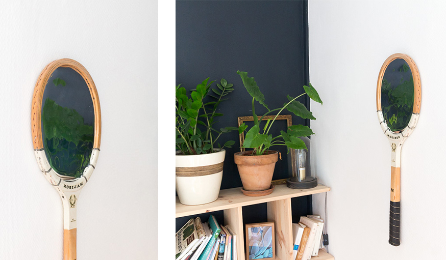 DIY raquette miroir