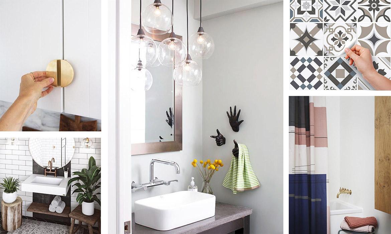 Salle D Eau Blanche Et Bois relooker une salle de bain : 14 idées pour un nouveau