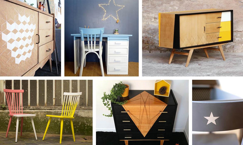 10 Idees Pour Relooker Un Meuble Vintage Avec De La Peinture