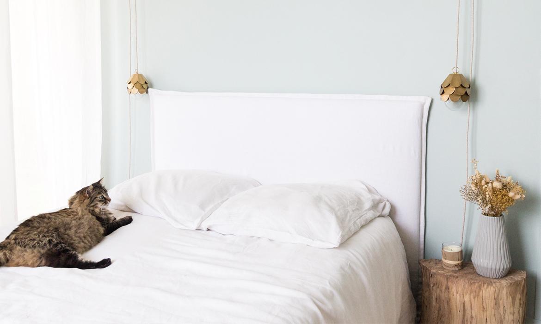 Planche Pour Tete De Lit diy tête de lit déhoussable | une hirondelle dans les tiroirs