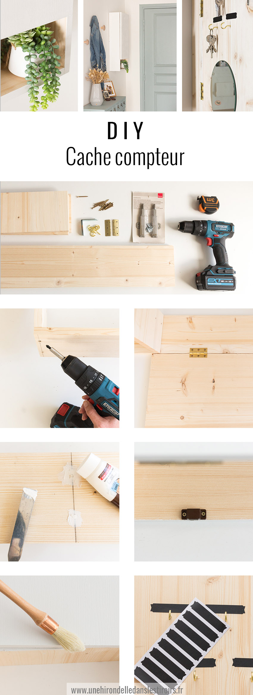 Armoire Pour Cacher Tableau Electrique diy cache compteur | une hirondelle dans les tiroirs