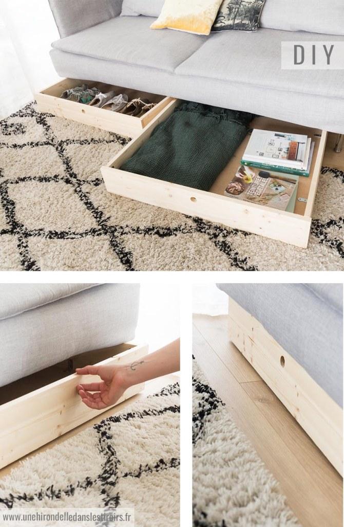 DIY tiroirs sous meuble