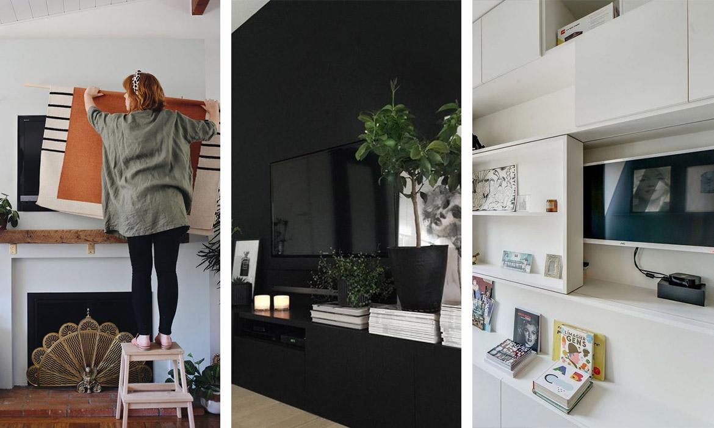 12 idées pour cacher la télé    Une hirondelle dans les tiroirs