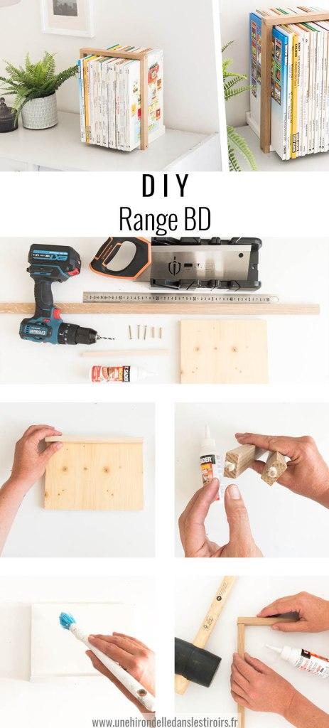 DIY range BD etapes