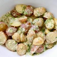 Salade de pommes de terre au yogourt