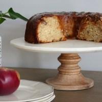 Gâteau aux pommes,  pacanes et caramel