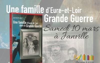 Samedi 10 mars, Jean-Philippe Noblet présente son livre Une famille d'Eure-et-Loir dans la Grande Guerre