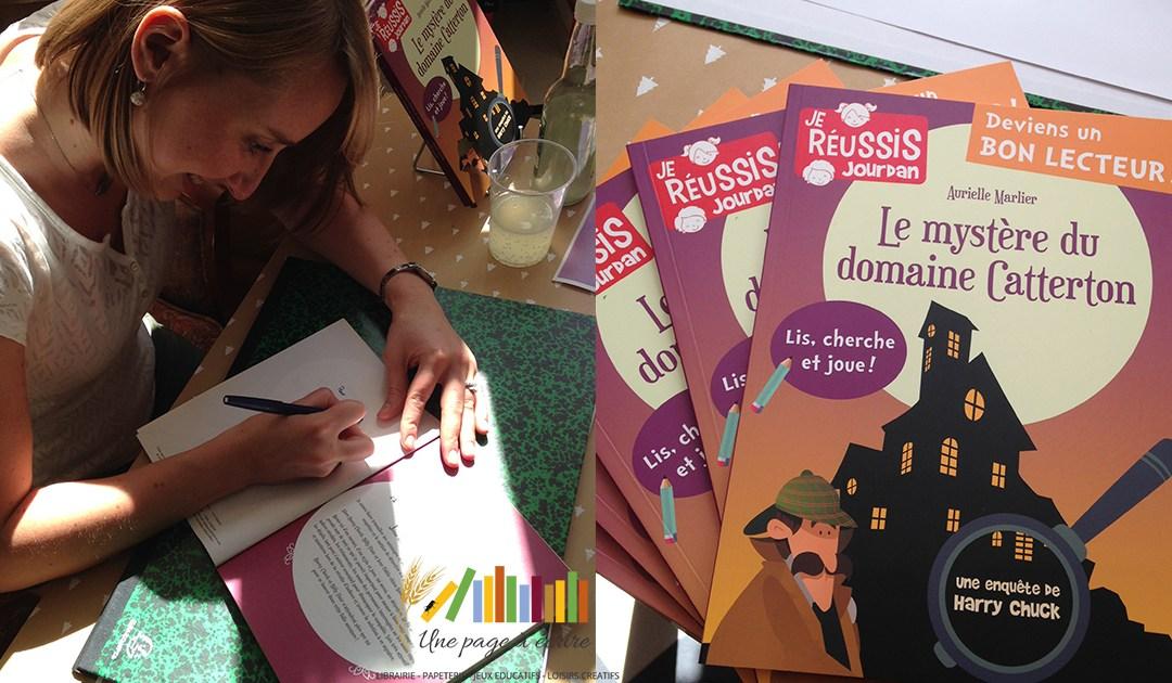 [Vidéo] Aurielle Marlier, Le Mystère du domaine Catterton (Editions Jourdan – à partir de 9 ans)