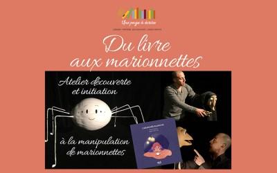 Atelier découverte et initiation à la manipulation de marionnettes, samedi 3 octobre 2020 à 15h et 17h