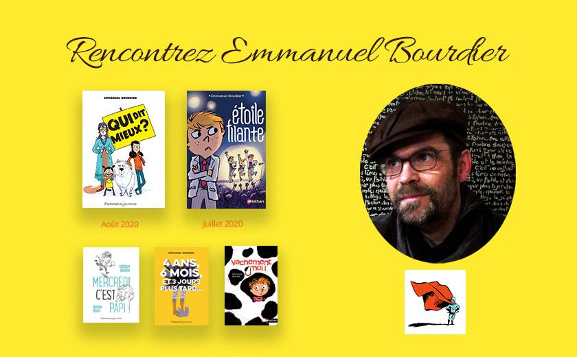 Rencontre avec Emmanuel Bourdier, auteur de romans jeunesse (10-13 ans), samedi 19 septembre 2020 à 15h