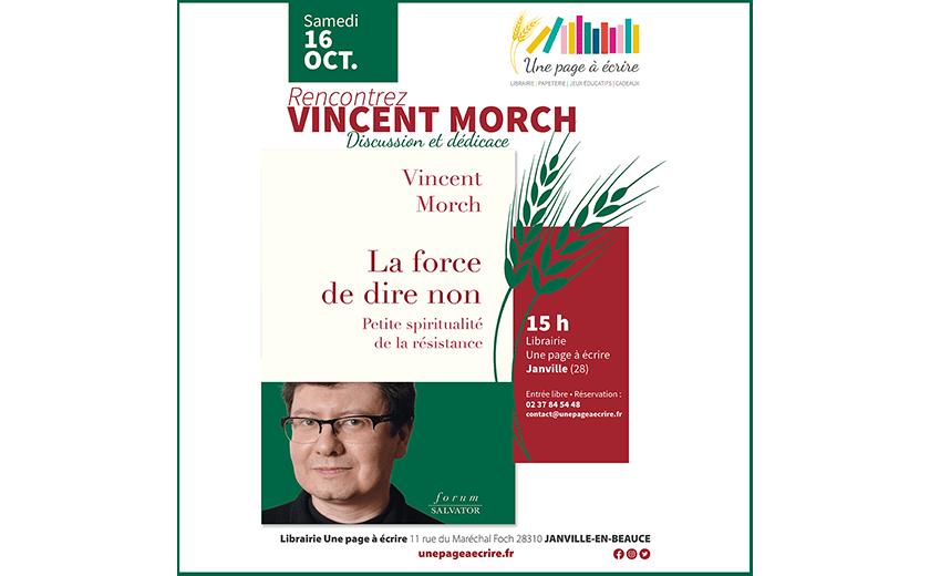 Rencontre avec Vincent Morch samedi 16 octobre 2021 à 15h