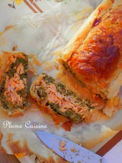 feuilleté saumon aux herbes