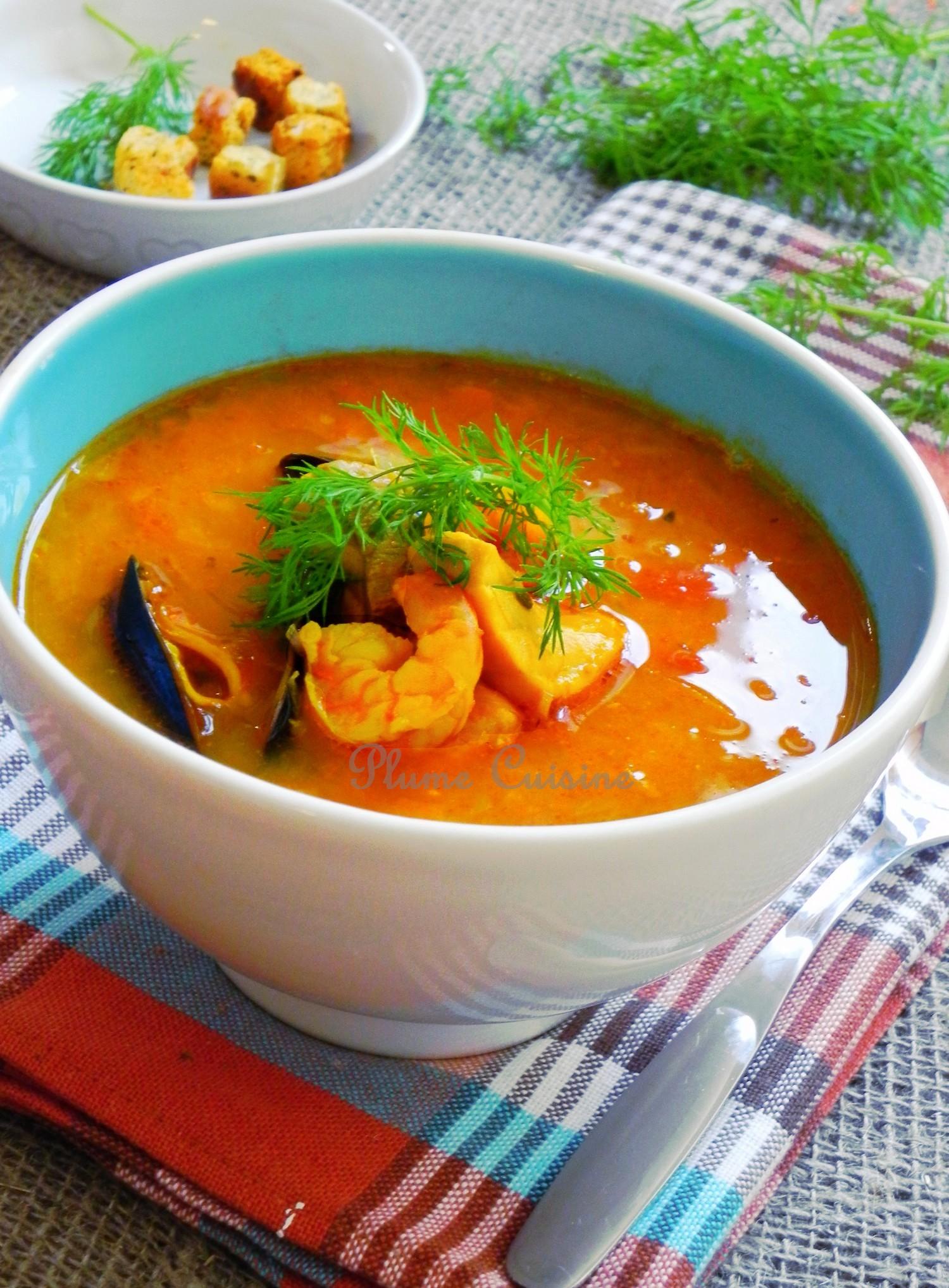 Soupe de poisson su doise une plume dans la cuisine - Cuisine soupe de poisson ...