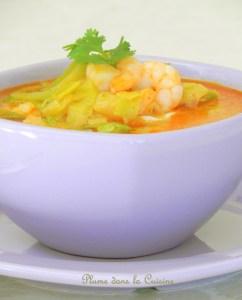 soupe épicée crevette