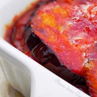 Gratin d'aubergines à la sauce tomate et mozzarella