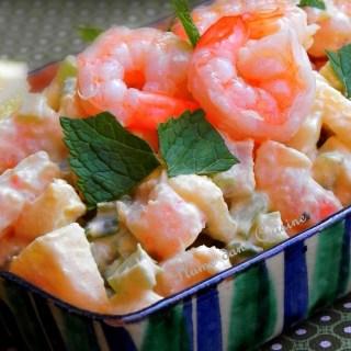 Salade de crevette crémeuse (sans mayonnaise)