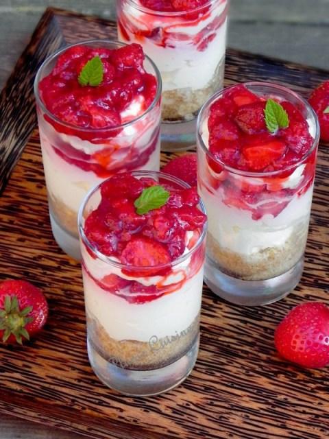 Verrine-cheesecake-aux-fraises