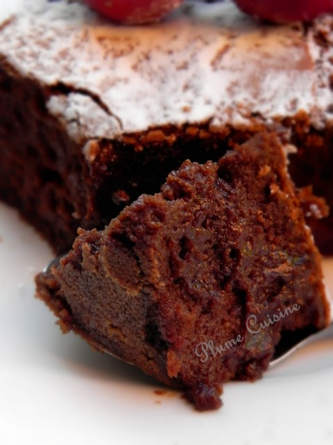 Gâteau chocolat-rhum-cerises
