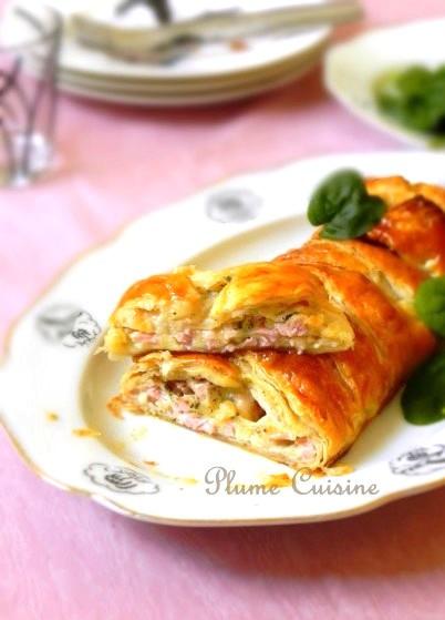 Feuilleté-tressé-jambon-mozzarella