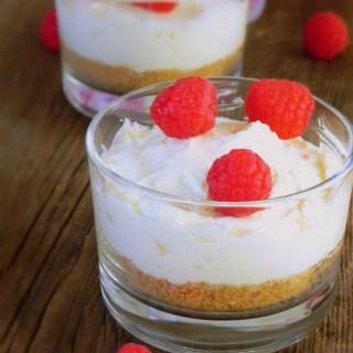 Cheesecake chocolat blanc sans cuisson
