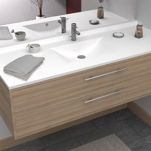 Plan Vasque Simple En Resine De Salle De Bain