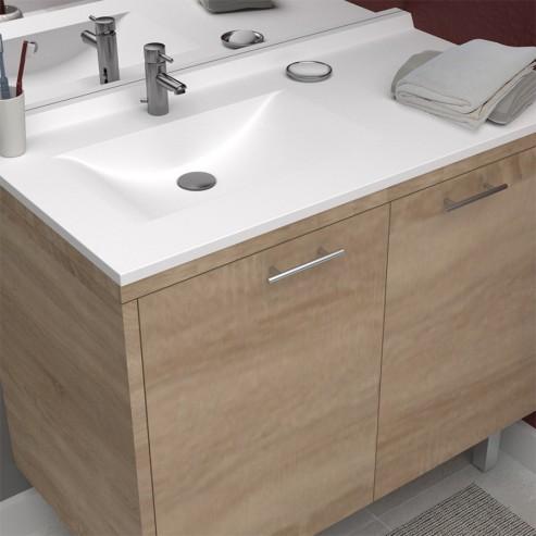 plan simple vasque deportee resiplan 105 cm vasque a gauche