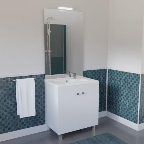 Meuble De Salle De Bain Avec Vasque Et Miroir