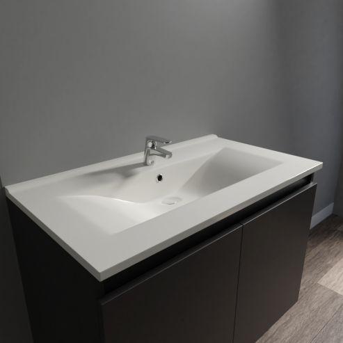 Plan Vasque Simple En Ceramique De Salle De Bain