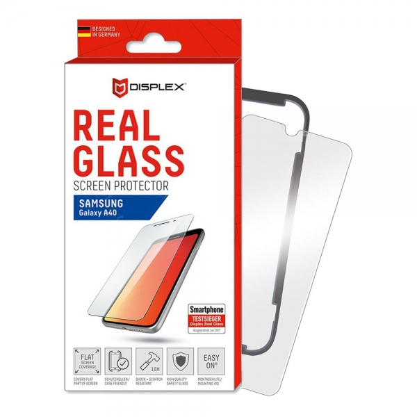 SAMSUNG A40 REAL GLASS 2D WITH APPLICATOR
