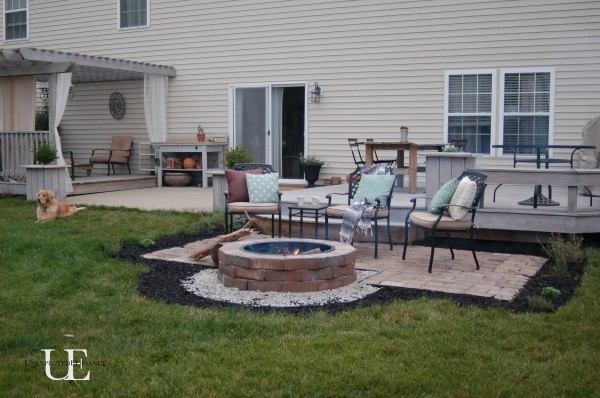 paver patio with fire pit. DIY Outdoor Fire Pit Paver Patio With O