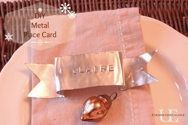 DIY Metal Place cards from Unexpected Elegance