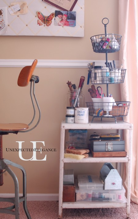 Rolling Cart Organization at Unexpected Elegance