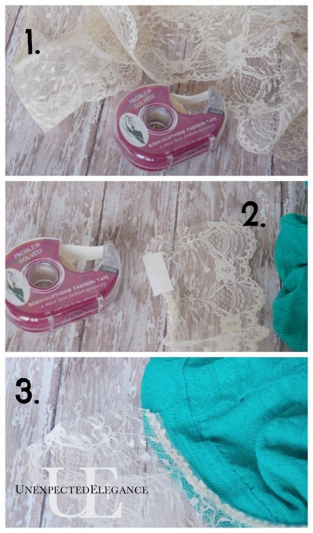 Steps for adding length to skirt at Unexpected Elegance