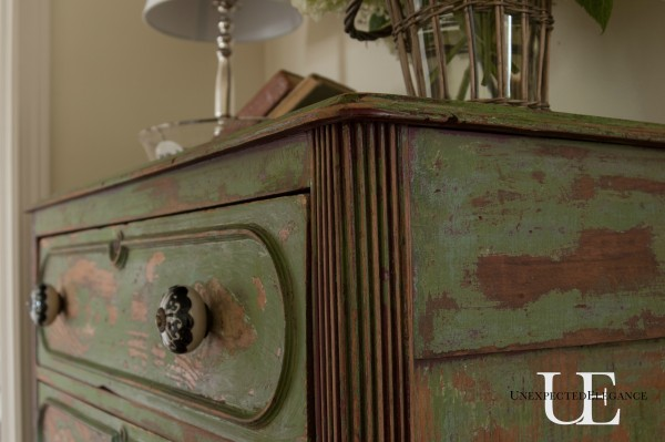 Distressing Furniture With Vaseline And Spray Paint