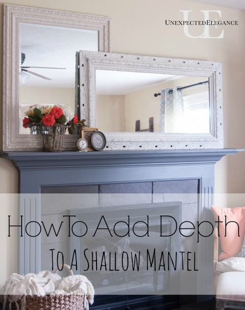 Step by step tutorial to add more depth to a shallow mantel. Easy and inexpensive way get more space!