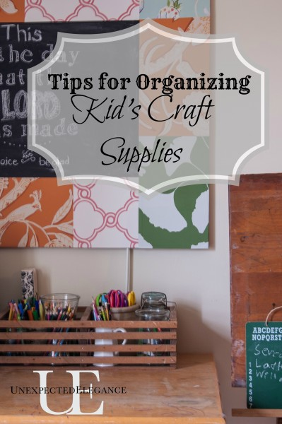 Tips for Orgainizing Craft Supplies for Kids