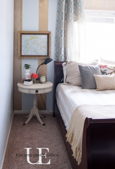 Gold Striped Guest Bedroom (1 of 1)-8