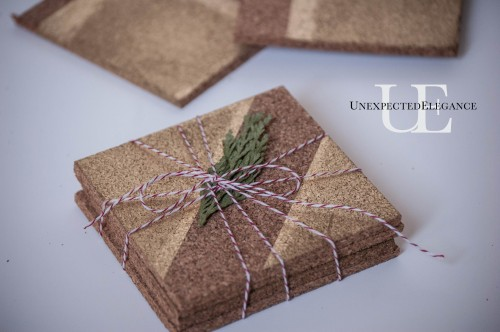 Handmade Gift- Coasters using Frog Tape #shop #TexturedSurface