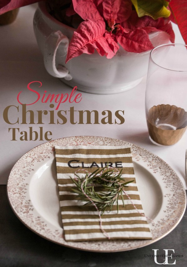 Quick and Simple Christmas Table