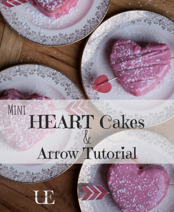 Get some FREE Arrow Printable Download to turn a small heart shaped cake into the perfect Valentine!