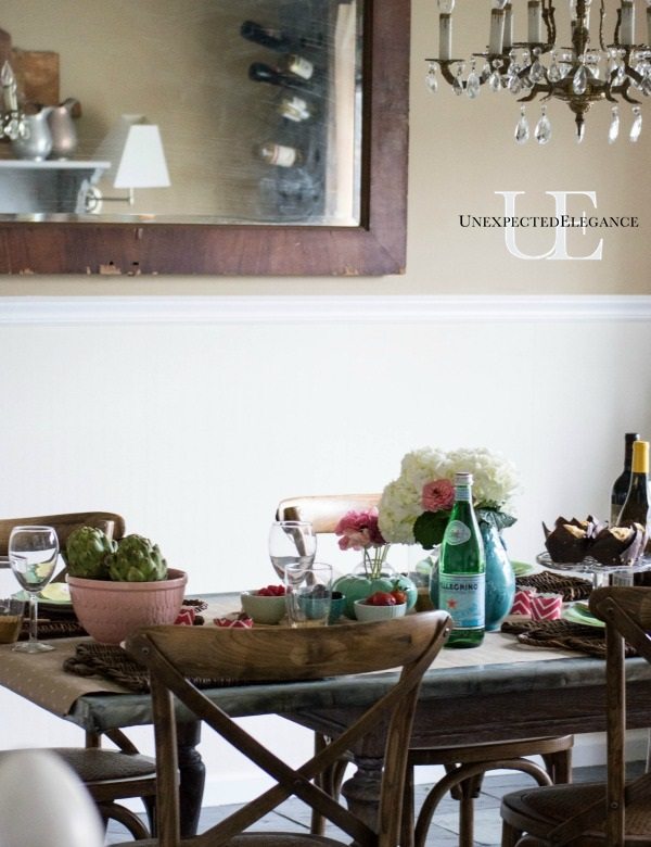 Spring Dining Room Tablescape-1-12