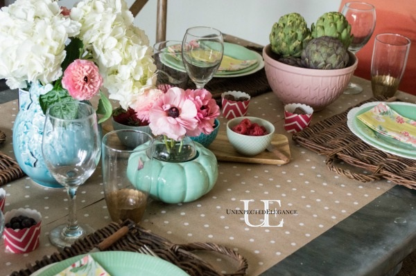 Spring Dining Room Tablescape-1-4