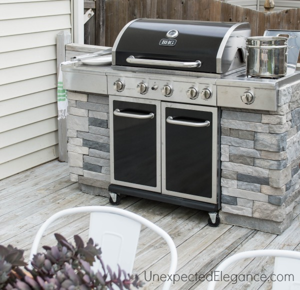 diy grill station using probond advanced unexpected elegance. Black Bedroom Furniture Sets. Home Design Ideas