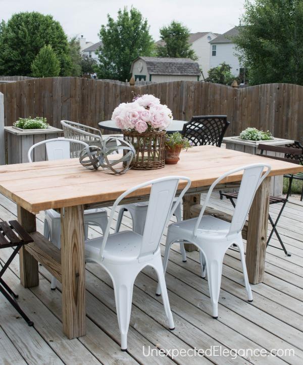 Stunning DIY Outdoor Patio Table