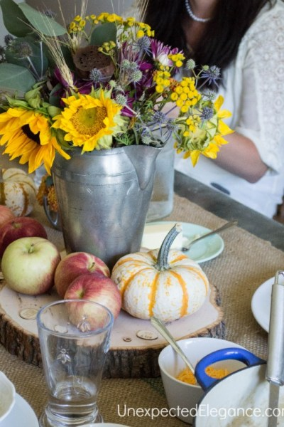 Apple Inspired Luncheon |  Fall Recipes